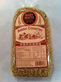 Amish Country Popcorn Baby White 2 Pound Bag ** More info could be found at the image url.