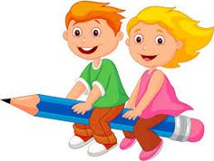 Cartoon Boy and girl flying on a pencil. Illustration of Cartoon Boy and girl fl , Cartoon Cartoon, School Cartoon, Cartoon Characters, Cartoon Drawings, School Murals, School Clipart, Preschool At Home, School Decorations, Pencil Illustration