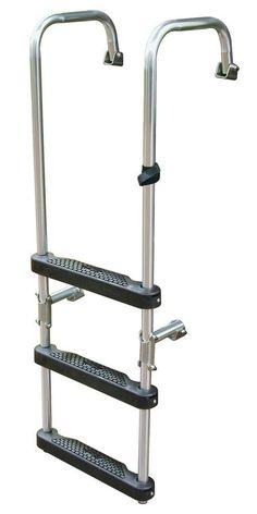 NEW 4 Step Aluminium Boarding Ladder Folding Pontoon Boat