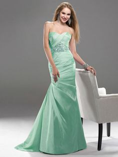 P5710 Flirt Dress - mint green bridesmaid dress (also in lavender)