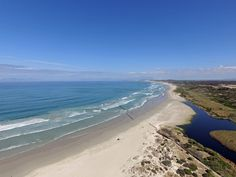 Mouth of the Lourens River in Strand (Helderberg area) - Cape Town. Table Mountain is faintly visible in the mistiness on the horison. Best Family Beaches, River Mouth, Beach Road, Table Mountain, Coastal Homes, Cape Town, South Africa, African, Ocean