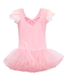 Take a look at this Pink Cap-Sleeve Ballet Dress - Infant, Toddler & Girls today!