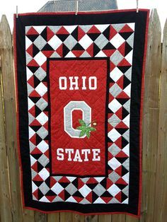 Ohio State Buckeyes Quilt - Makes me want to learn to quilt :-) ~ML