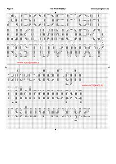 Full set of duplicate stitch upper- and lower-case