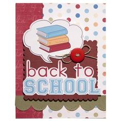 Imaginisce - Geek is Chic Collection - Back to School card