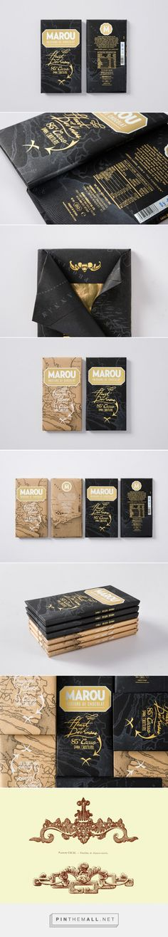 Marou Chocolate - Heart of Darkness packaging designed by Rice Creative - http://www.packagingoftheworld.com/2015/12/marou-chocolate-heart-of-darkness.html
