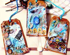 Robin's Egg Blue Peeps Set of 3 altered by GaffneyGirlStudio,