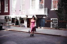 Ariana Lauren of #fashionborn wearing dress #reformation, bag #gucci, shoes #isabelmarant