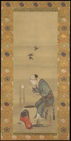 Woman Spinning Silk  Katsushika Hokusai, 1790