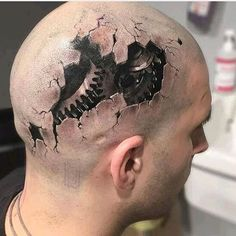 Trendy Tattoo For Guys Badass Tatoo 30 Ideas Amazing 3d Tattoos, Best 3d Tattoos, Weird Tattoos, Great Tattoos, Trendy Tattoos, Tatoos, Small 3d Tattoos, Detailliertes Tattoo, Kopf Tattoo