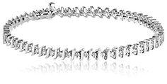 10k Gold S-Link Diamond Tennis Bracelet (1 Cttw, I-J Color, I1-I2 Clarity)