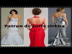 """Como hacer el trazo de la falda sirena """"Peticion"""" - YouTube"""