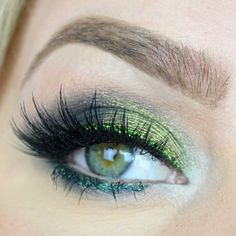 Green magic Makeup Tutorial by madddeelenee. Makeup Geek Eyeshadows in Enchanted Forest, Shark Bait, and Jester.