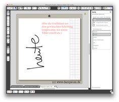 :: danipeuss.de :: BLOG: Anleitung: Schriftzug in deiner Handschrift mit der Silhouette Cameo ausschneiden