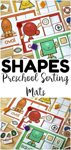 Teach early learners to recognize shapes all around them with these preschool shape sorting activity mats! Great for reusing at centers or in morning tubs! Best Picture For Montessori Education For Yo Kindergarten Sorting Activities, Kindergarten Songs, Preschool Lessons, Toddler Activities, Preschool Activities, Preschool Shapes, Shape Activities For Preschoolers, Preschool Classroom, Educational Activities
