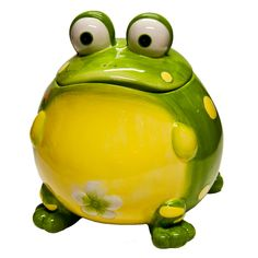 Frog Cookie Jar. I just could not resist. He is just to cute!!