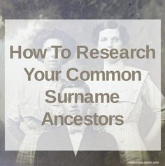 Struggling to research your common surname ancestors? Find genealogy tips and strategies to help you find those ancestors with all too common surnames! Genealogy Research, Family Genealogy, Free Genealogy, Genealogy Sites, Free Family Tree, Family Trees, Genealogy Organization, Family Research, Families Are Forever