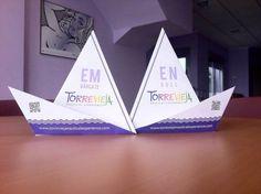Un creativo folleto en forma de barco hecho con técnica origami del que estamos muy orgullosos. Mira el vídeo de cómo se hace en nuestro blog [] A creative brochure origami style, we´re so proud of it. Check our portafolio for more info.
