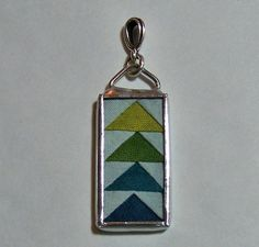 quilt jewelry -a perfectly tiny thing!