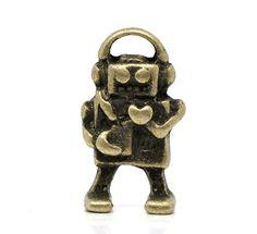 Robot Charms 20pcs Antique Bronze Musical Robots by DIYBeadshop, $2.99