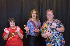 """Us with Brenda Strong, narrator of """"Desperate Housewives"""" and Lillian Luthor from The CW's """"Supergirl""""."""