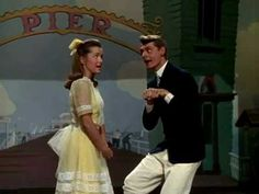 Debbie Reynolds and Carleton Carpenter.  I want to dance like this! Without the big yellow bow:)