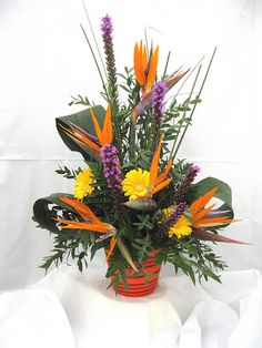 Birds Of Paradise Flower Arrangement by poplartreegc, via Flickr