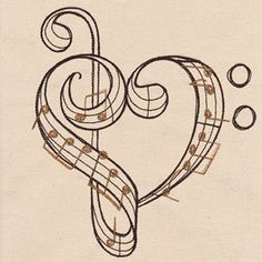 Beautiful Music - Heartfelt | Urban Threads: Unique and Awesome Embroidery Designs