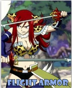 Erza's armour Haha awww she dosent look scary as usual shes so cute xD