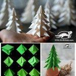 Frohes Fest! Kleiner 3D-Tannenbaum zum selbermachen...