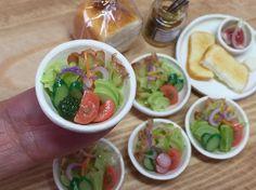 粘土で作ったプチサラダです♪  #miniature  #ミニチュア  #フェイクフード  #フェイクフード  #ハンドメイド