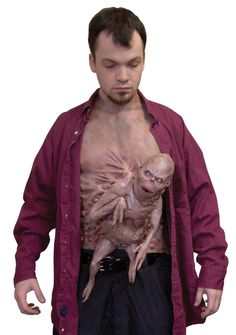 Other Costume Accessories 82161: Halloween Little Brother Chest Piece With Deformed Alien Fetus Latex Deluxe Prop -> BUY IT NOW ONLY: $49.99 on eBay!