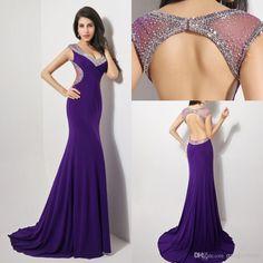 Backless Purple Dresses
