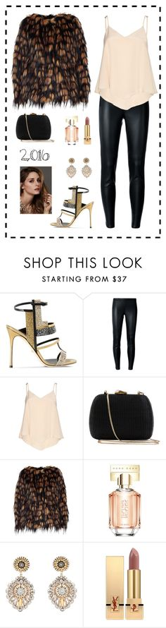 """Untitled #360"" by maylamartha on Polyvore featuring Sergio Rossi, MICHAEL Michael Kors, Alice + Olivia, Serpui, Dries Van Noten, HUGO, Beauty Secrets, Miguel Ases and Yves Saint Laurent"
