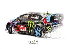 Ken Block Ford Fiesta by froggstomper79