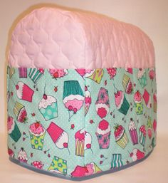 Pink Quilted Cupcake Cover for 4.5 & 5qt Kitchenaid Tilt Head Stand Mixer w/6 Pockets