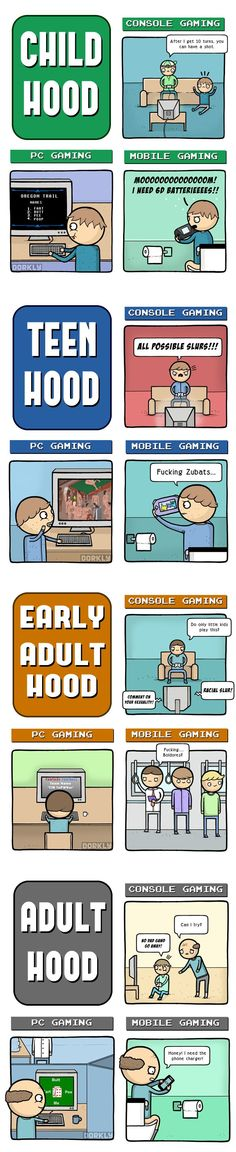 Gaming through life - funny pictures Dorkly Comics, Cheap Travel Packages, Teacher Breakfast, Slimming World Overnight Oats, Gambling Quotes, Geek Out, Casino Games, Funny Games, Video Games