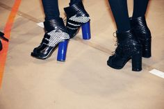Backstage at Proenza Schouler FW 2012