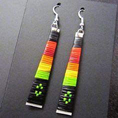 Straight Quill Earrings by Lonna Jackson (Dakota/Chippewa)