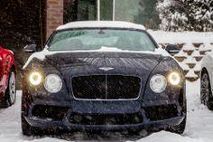 Winter at Morrie's Luxury Auto. #Bentley #snow #Bentleyonice