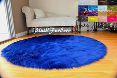PlushFurEver Faux Fur Decors Accents Modern Home by PlushFurever Nursery Area Rug, Nursery Room Decor, Oval Rugs, Round Area Rugs, Fur Carpet, Shaggy, Apartment Ideas, Colorful Rugs, Accent Decor
