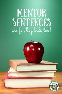 Mentor Sentences are a new trend! Find out how they were adapted for use in upper elementary and middle school!