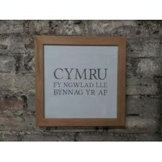 'wales my country wherever I may be' print