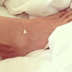 2015 HOT coração de prata de ouro lantejoula cadeia tornozeleiras pulseira em uma perna simples Sexy cadeia de pé Beachs tornozeleira para mulheres pé jóias em Tornozeleira de Jóias no AliExpress.com | Alibaba Group