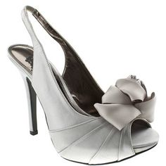 Women's Silver Schuh Flower Rose Slingback at Schuh