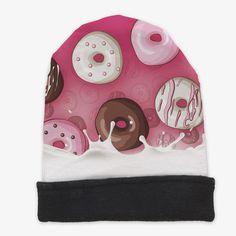 Autumn Winter New Style Of Knited Hat Fashion Funny 3D Print Milk Donut  Girl Warm Beanies Women Fashion Cap