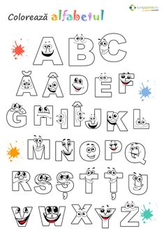 litere alfabet de colorat - Поиск в Google Letter Worksheets, Alphabet Activities, Educational Games, Letters And Numbers, Bullying, Preschool, Classroom, Lettering, Fun