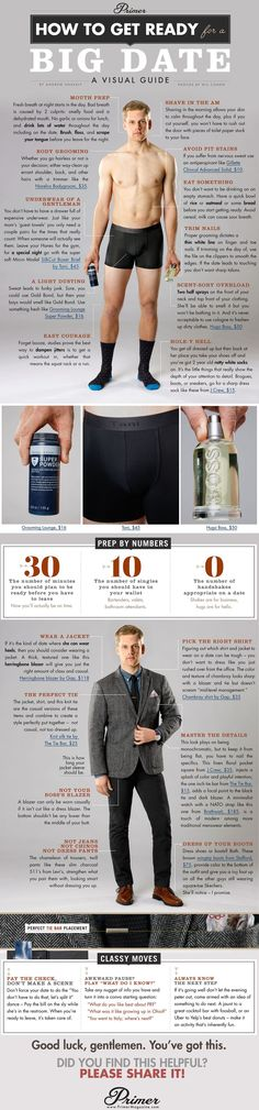 awesome How to Get Ready for a Big Date – A Visual Guide by http://www.danafashiontrends.us/big-men-fashion/how-to-get-ready-for-a-big-date-a-visual-guide/