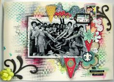 Another scrapbook layout made for my mother and her friends from schooldays.