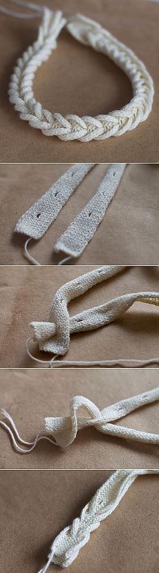 Интересный способ сделать вязаную косичку (Diy) / Вязание / Своими руками - выкройки, переделка одежды, декор интерьера своими руками - от ВТОРАЯ УЛИЦА